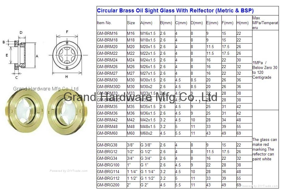 oil level sight glass 12