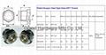 BSP 1 Inch oil level sight glass plugs indicator for screw air comressor 9