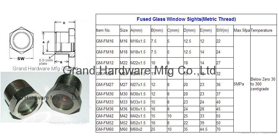 Flange sight windows