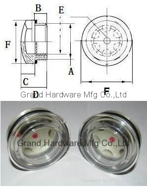 Circular Plastic Sight Glass