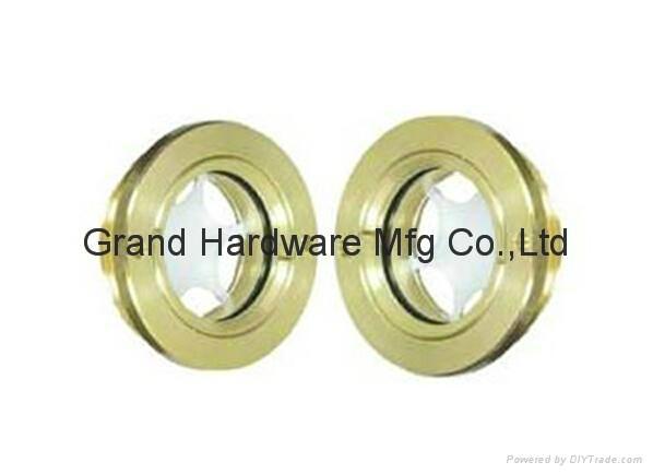 Circular Brass Oil Sight Glass