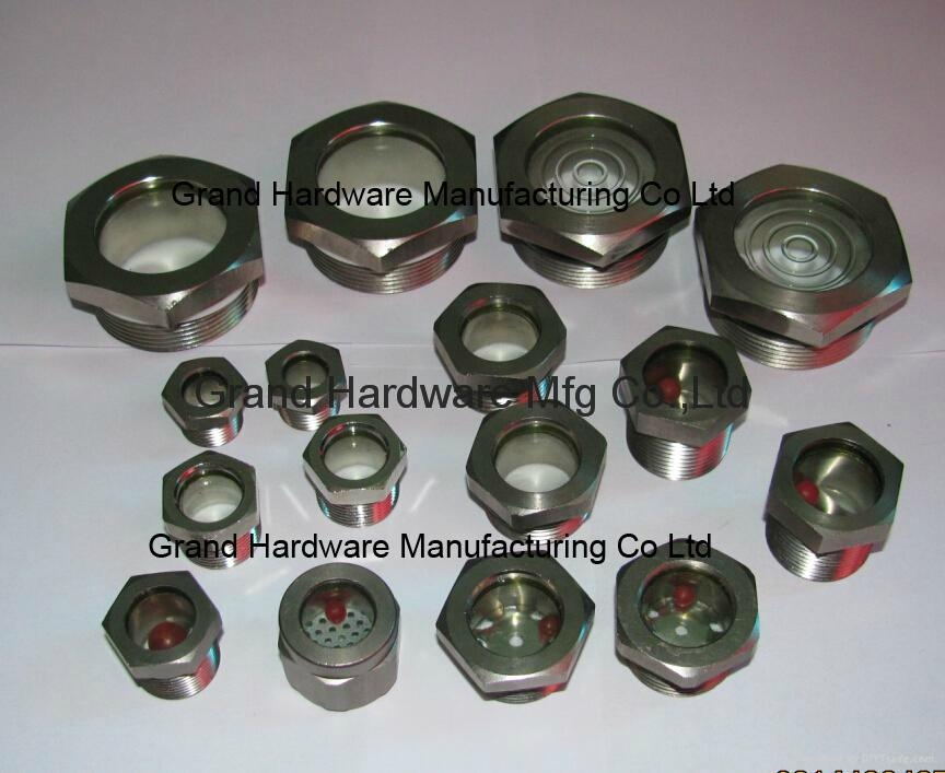 Hexagon Plastic Oil Sight Glass