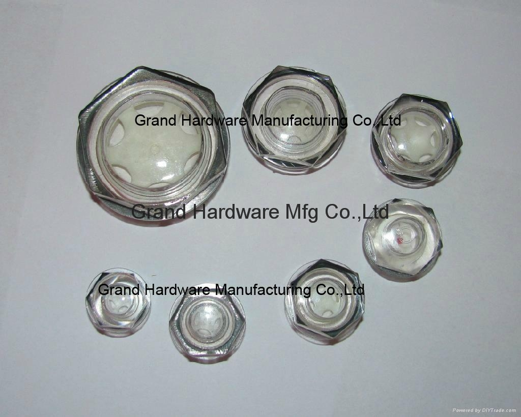 Circular Plastic Oil Sight Glass