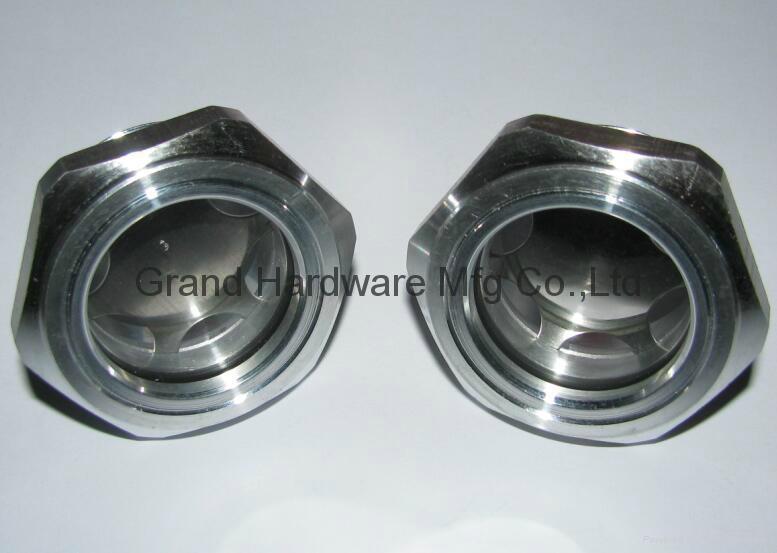Roots Vaccum pump Hexagon Aluminum Oil Sight Glass G1-1/4 inch 1