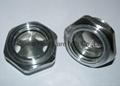 Roots Vaccum pump Hexagon Aluminum Oil Sight Glass G1-1/4 inch 5