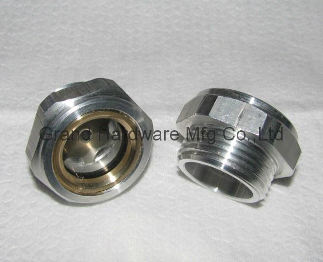 Roots Vaccum pump Hexagon Aluminum Oil Sight Glass G1-1/4 inch 6