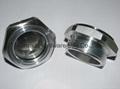 Roots Vaccum pump Hexagon Aluminum Oil Sight Glass G1-1/4 inch 7