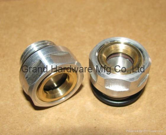 Roots Vaccum pump Hexagon Aluminum Oil Sight Glass G1-1/4 inch 8