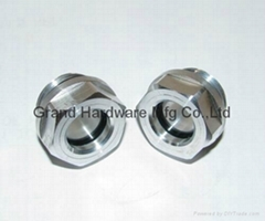 Circular Aluminum oil level sight glass indicator