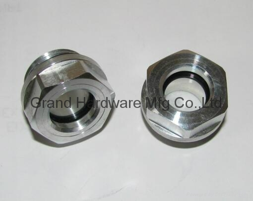 "G1/2"" 铝油镜铝视镜铝油标 3"