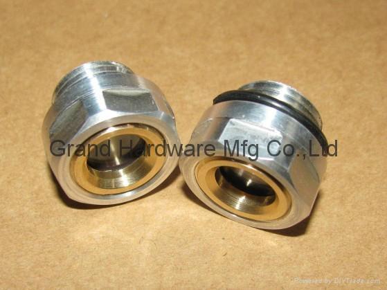 "G1/2"" 铝油镜铝视镜铝油标 4"