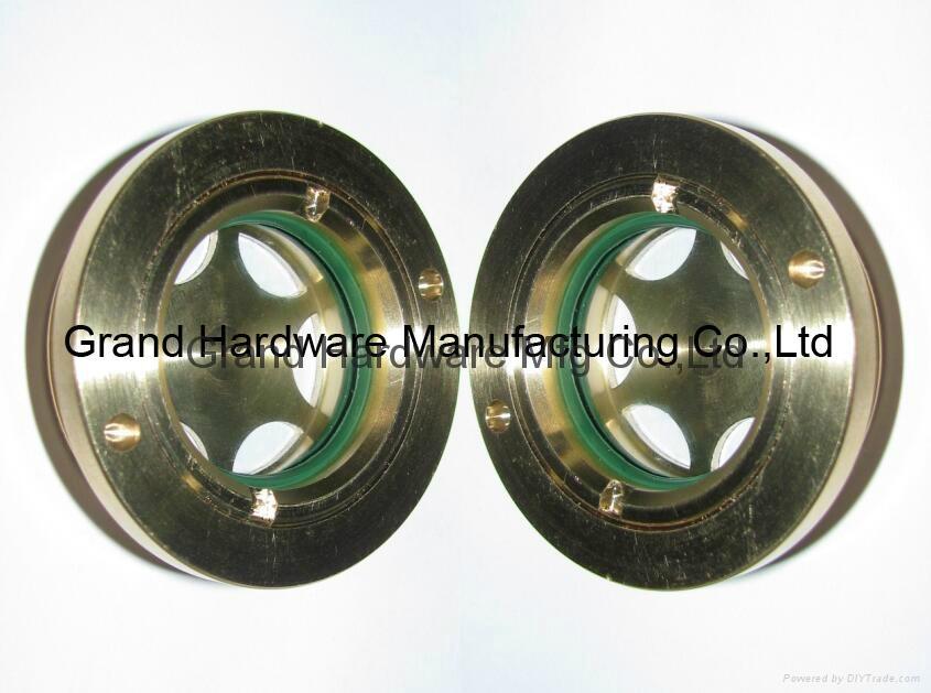 BSP 2 inch Brass Circular Oil level sight glass