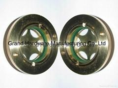 BSP2寸英制螺纹圆形黄铜油镜油窗液位器油位器可定做