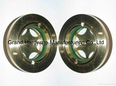 BSP2寸英制螺紋圓形黃銅油鏡油窗液位器油位器可定做