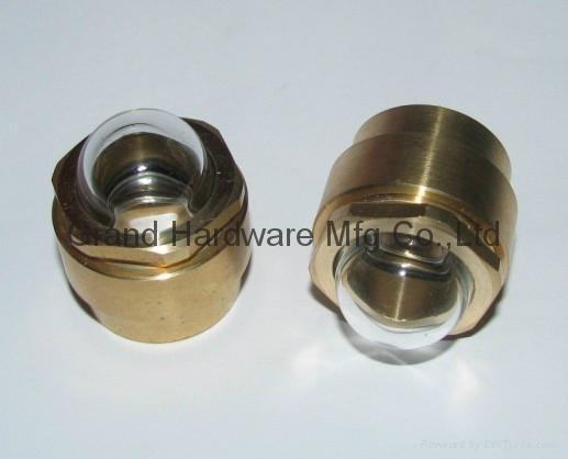 NPT 1/2 brass domed oil sight glass