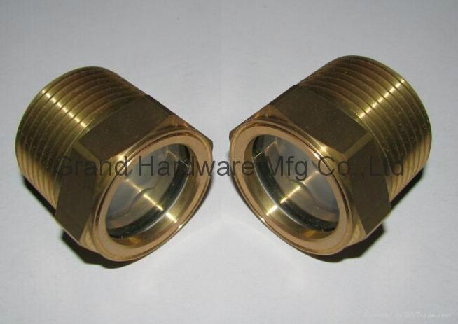 NPT 1 inch oil level check sight glass