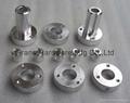 precision lathed aluminum component