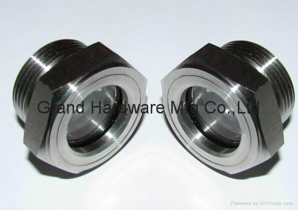 SUS304 不鏽鋼油位觀察視鏡液位計油窗有擋板耐高溫高壓 2