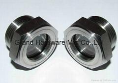 NPT螺紋不鏽鋼316液油視鏡管道觀察鏡器皿觀察鏡