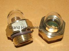 G1/2寸圆形半球型油镜黄铜观油镜油窗油位器可定做