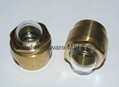 """1/2"""" brass domed oil sight glass with hexagon nut"""