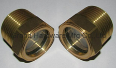 NPT1寸泵用黃銅油鏡油窗液位觀察鏡油位器油標油視鏡