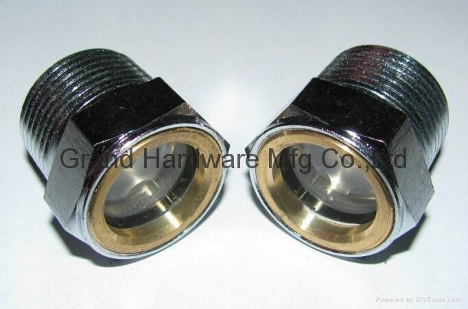 M36M33M26X1.5圆形黄铜油镜油窗油位计器观察窗 5