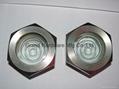 Refrigerator screw compressor fused sight glass