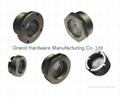 Oil line sight glass for vertical liquid receiver of refrigerator equipment