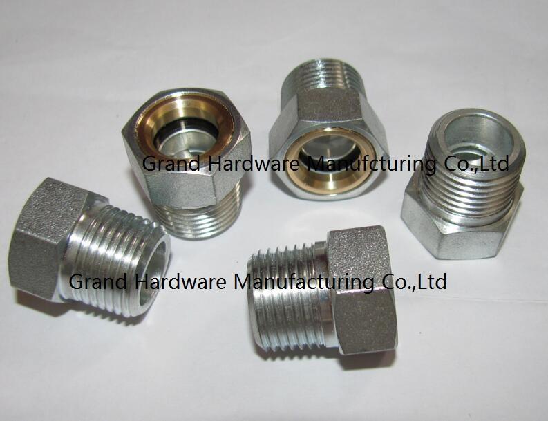 "NPT3/8"" Steel oil level sight plugs zinc plated"