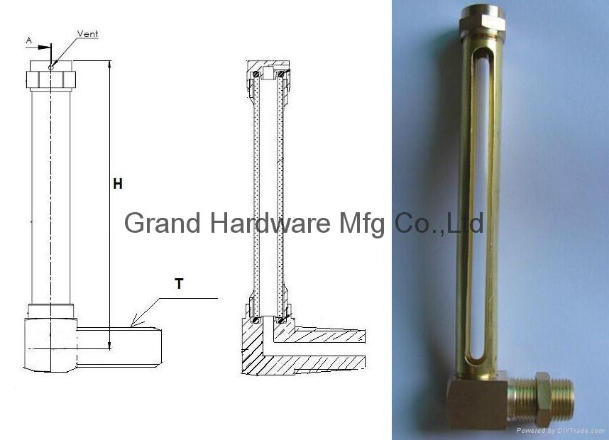 brass oil level sight gauge NPT3/4