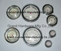 Push fitting oil level indicator sight glass