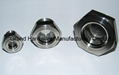 SUS304 Hexagon oil sight glass with tempered glass and reflector