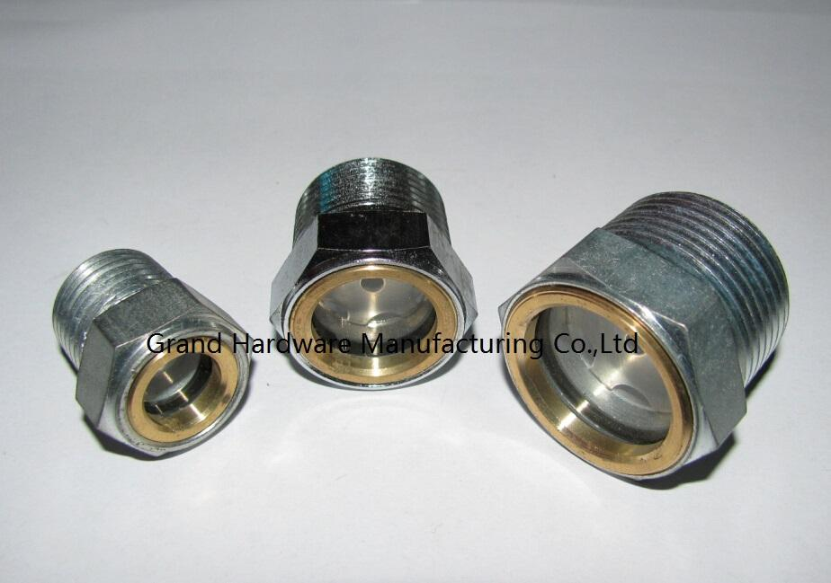 ITT Goulds Pump steel oil level sight glass NPT