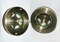 Circular brass oil level sight glass for Germany screw oil compressor