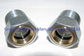 Steel oil level sight glasses Zinc plated
