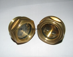 BSP 1 Inch Brass oil sight glass plug for power station