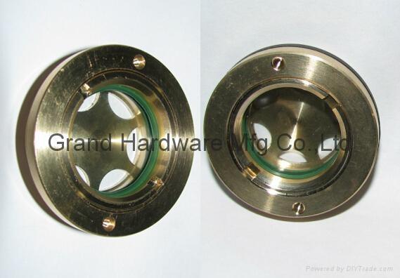 """Circular Brass Oil Sight Glass G1"""""""