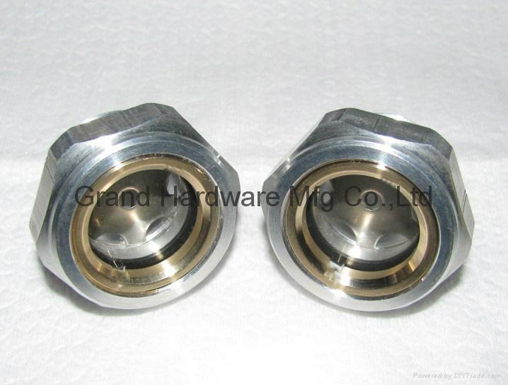 Hexagon head aluminum oil level indicator