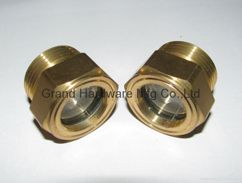 1寸NPT液壓機齒輪箱減速機泵用配件黃銅油鏡油窗 8