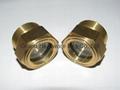 bsp thread brass peep hole oil sight levels