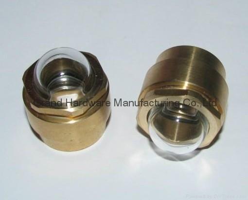 1寸NPT液壓機齒輪箱減速機泵用配件黃銅油鏡油窗 9