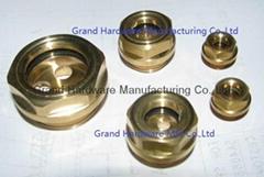 BSP G螺纹黄铜油镜油窗油位计观察视镜可定制