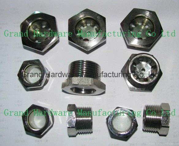 Threaded Oil sight glass for Refrigeration Oil Reservoir