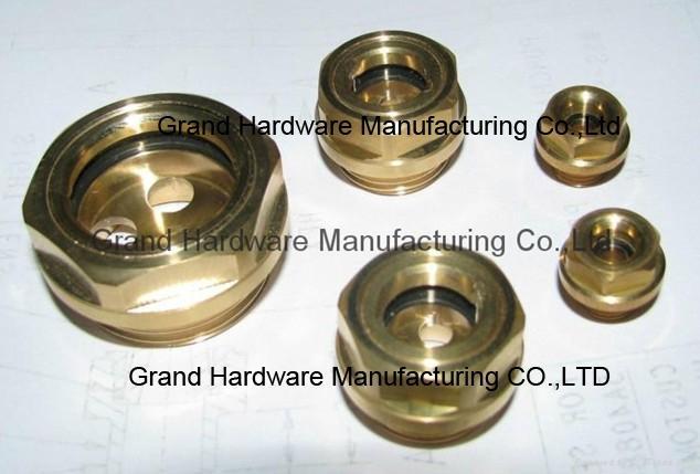 BSP 1 Inch oil level sight glass plugs indicator for screw air comressor 1