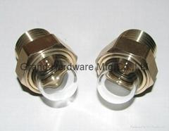 黄铜油镜半圆球形玻璃凸顶油镜油窗观察镜GM-HDG12
