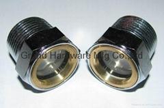 美製NPT1英吋鋼油液位視鏡電鍍鋅