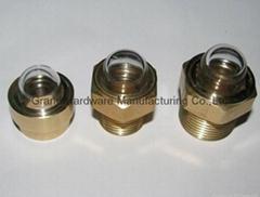 球面玻璃铜油镜不锈钢油镜BSP/NPT1/2寸