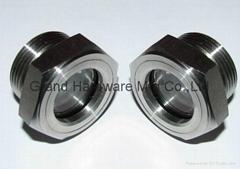 兩寸NPT不鏽鋼304耐高壓視液鏡油鏡