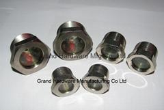 "1-1/4""-12UNF-2B Rotalock steel sight glass Nickel plated"